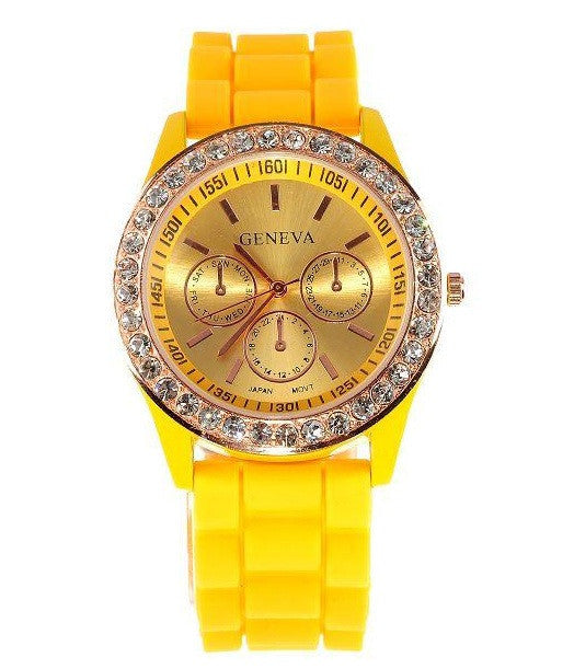 Khloe Diamonds Watch (6 COLORS AVAILABLE)