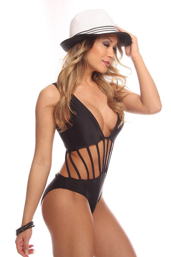 """The Sylvia"" Strap Detailed Wide Strapped Monokini"