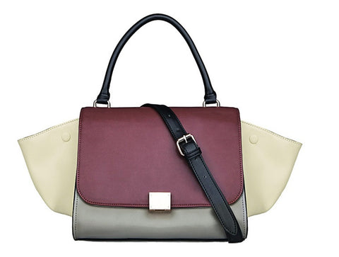 Trapeze Tote Bag ( Wine Grey)