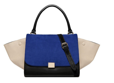 Trapeze Tote Bag ( Blue)