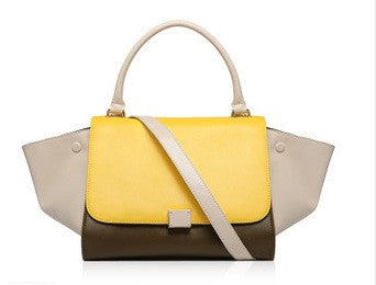 Trapeze Tote Bag ( Mustard Brown)
