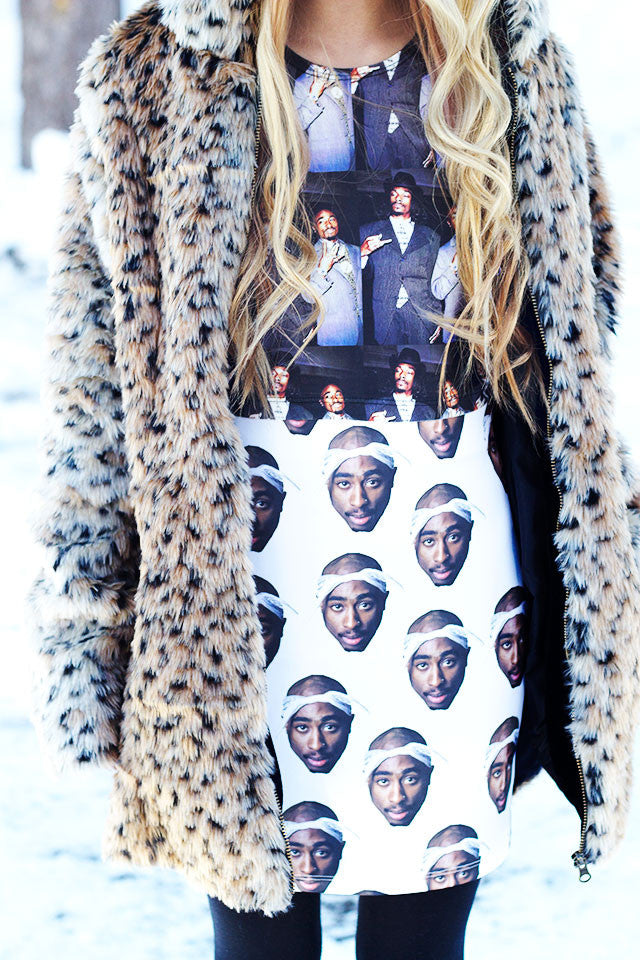 "Tupac ""California Love"" Bodycon Skirt"