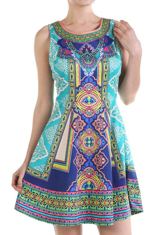 """Secret Gardern"" Summer Shift Print Dress"