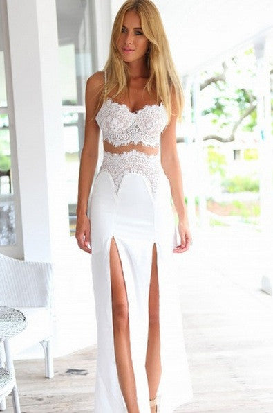 """Love Unscripted"" Two Pieces Maxi Bustier Dress (2 colors available)"