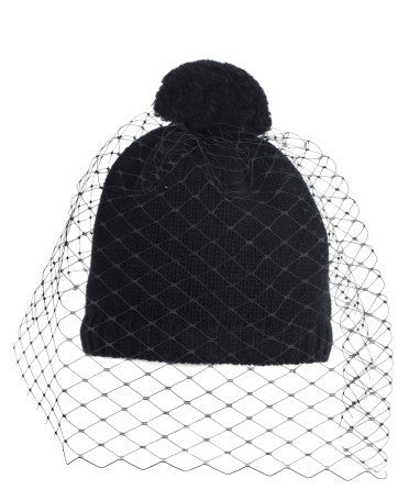 EXCLUSIVE Pom Pom Beanie with Veil (3 colors available)