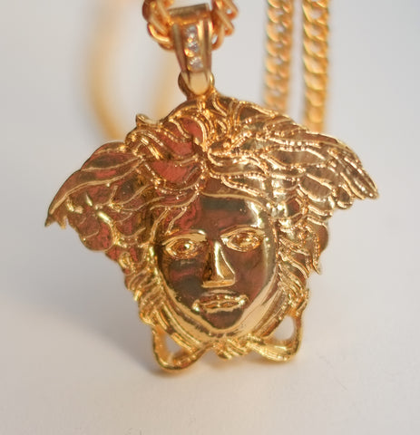 EXCLUSIVE Medusa Face Necklace-GOLD