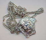 Medusa Face Necklace-SILVER