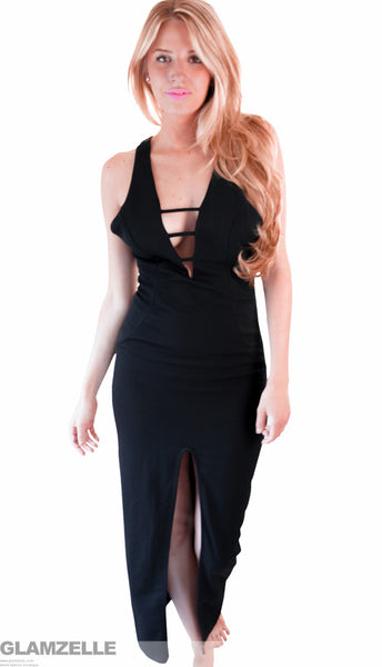 """Night Vixen"" Black Maxi Dress"