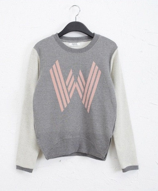 The W Contrast Loose Sweatshirt (2 colors available)