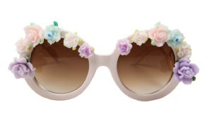 Spring Fling Baroque Sunglasses- White