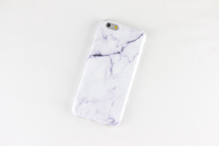 White Marble Print Iphone Case Cover (Iphone 5/ Iphone 6)