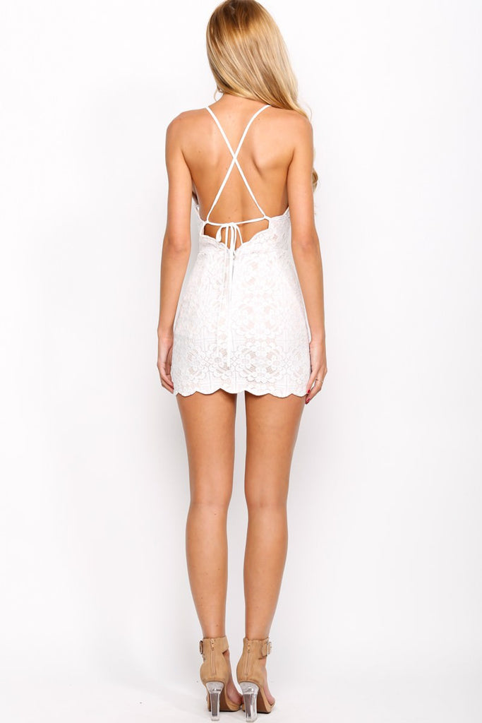 """Young Love"" Meryl Flower Crochet Dress (2 colors available)"