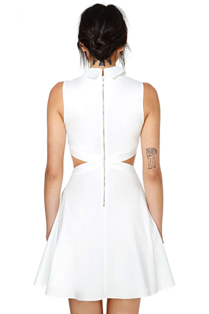 Innocent White Cutout Dress