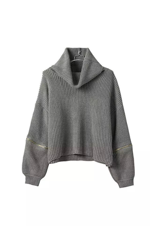 """Fashionable Cozy"" Zip Knit Sweater (3 colors available)"