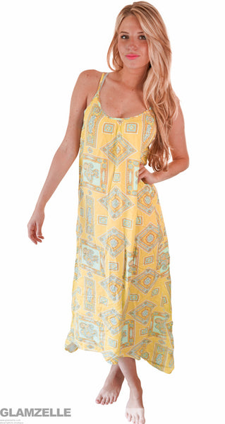 """Empress of the Sun"" Floral Flower Print Maxi Dress"