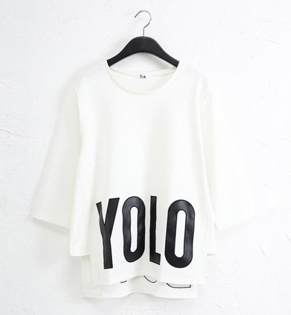 "YOLO ""Just Do It"" Short Sleeves Sweatshirt (2 colors available)"