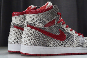 Natural & Metallic Red Python Jordan 1