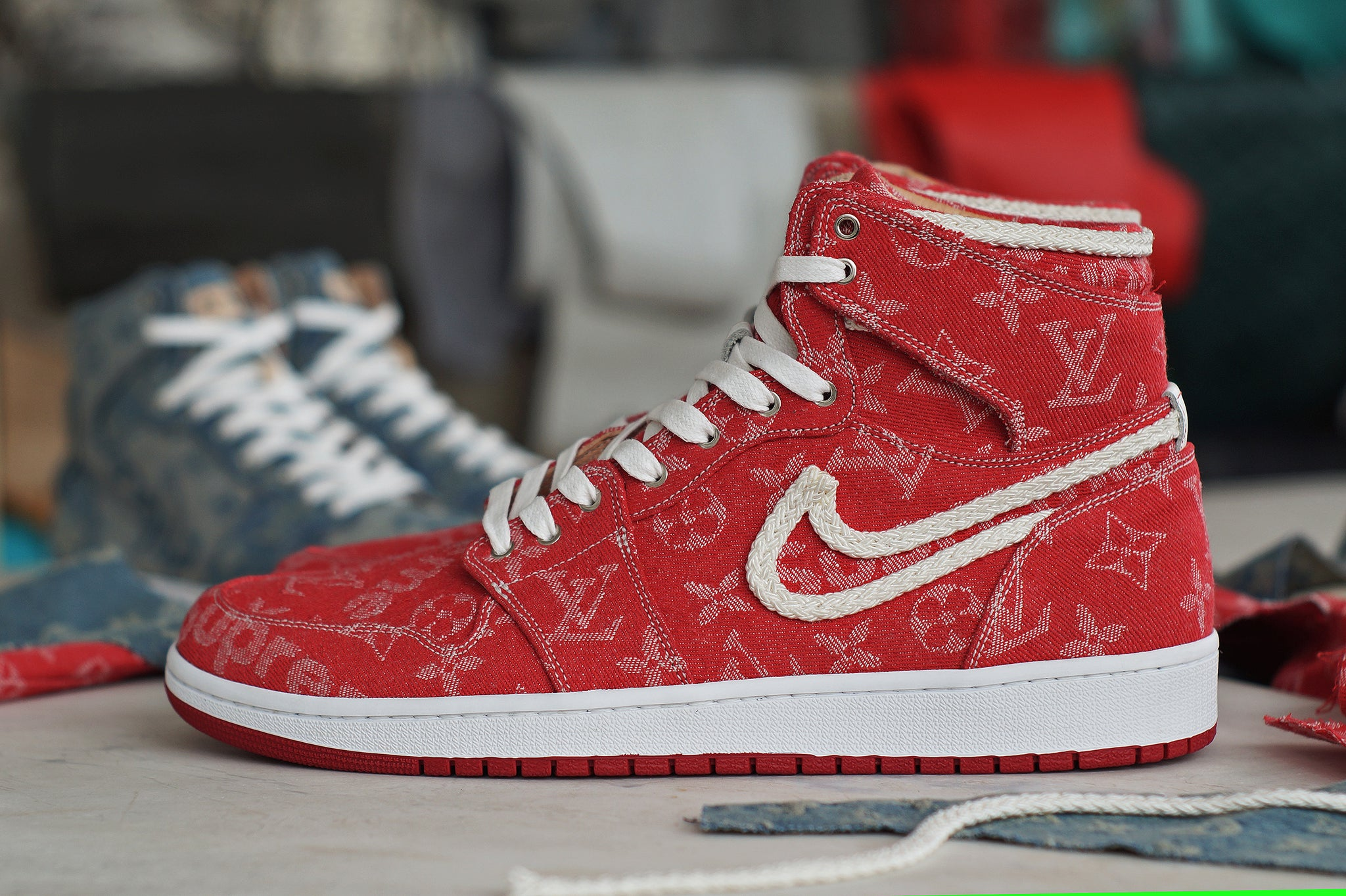 Red Supreme x LV Jordan 1