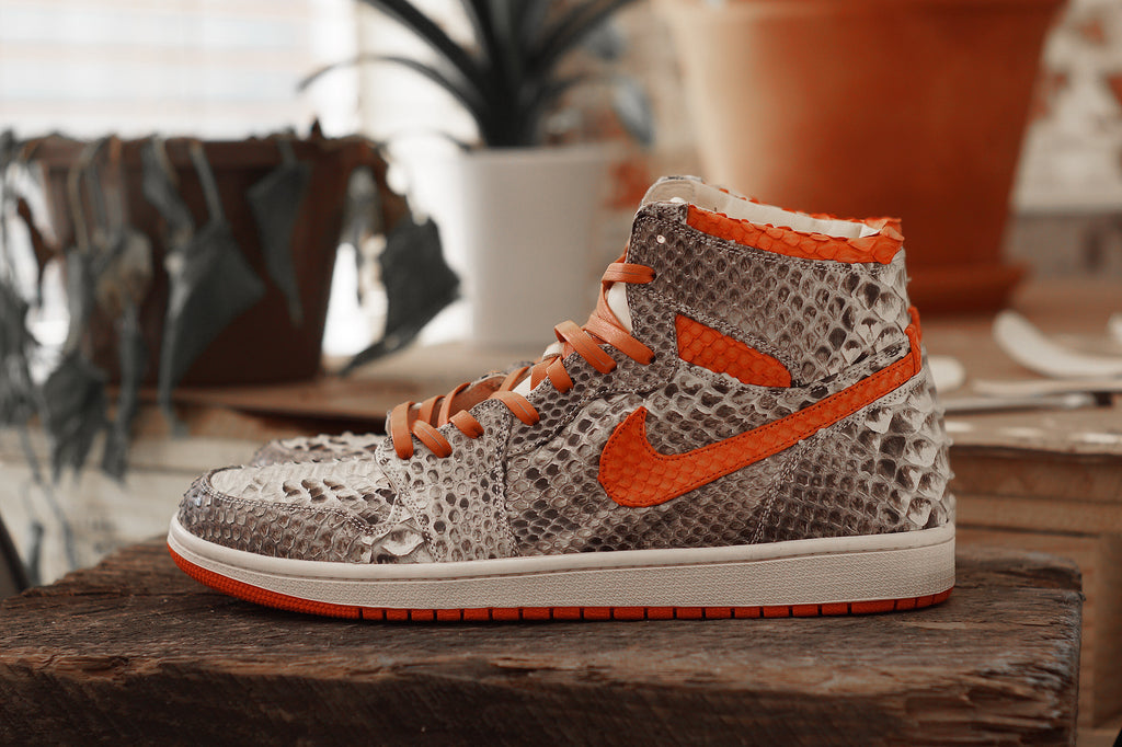 Natural & Orange Python Jordan 1