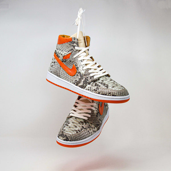 Orange & Natural Python AJ1