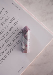 Pink Tourmaline Crystal Healing Point Beauty Stone co