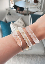 Load image into Gallery viewer, Clear Quartz Stone Cuff Bracelet - Beauty Stone Co