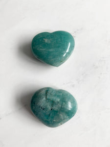 Amazonite Heart | Beauty Stone Co