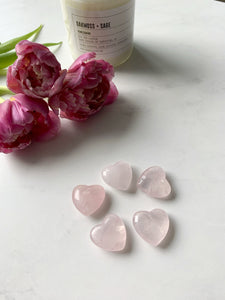 Rose Quartz Healing Heart Stones | Beauty Stone Co