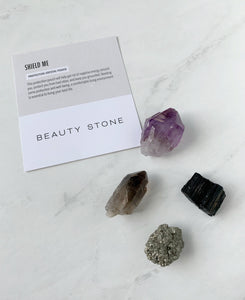 Shield me Protection Crystal Pouch | Beauty Stone Co