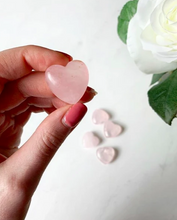Load image into Gallery viewer, Rose Quartz Healing Heart Stones | Beauty Stone Co