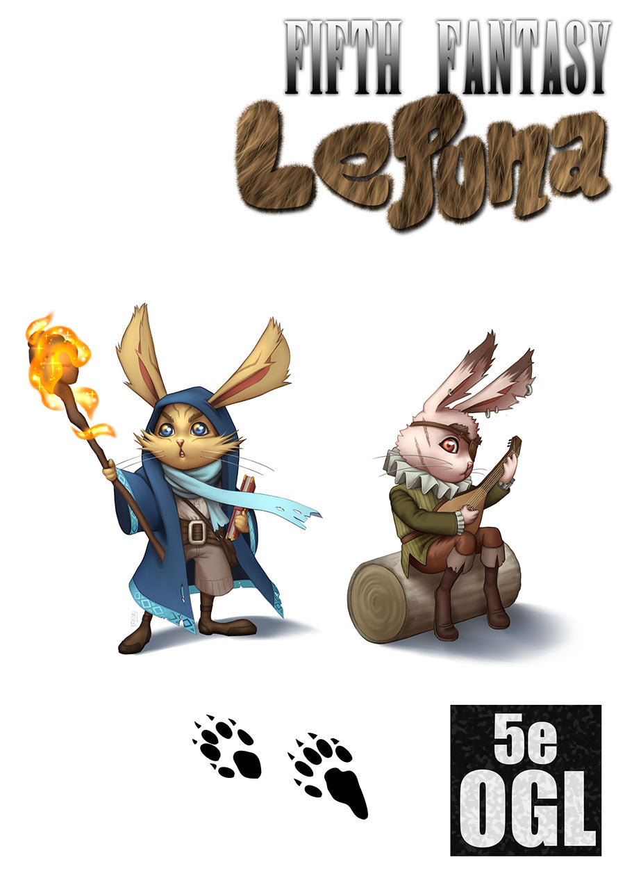 Fifth Fantasy: The Lepuna, a rabbit-like race of little people for 5th Edition D&D