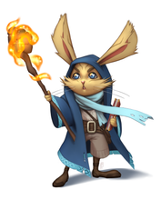 Load image into Gallery viewer, Fifth Fantasy: The Lepuna, a rabbit-like race of little people for 5th Edition D&D