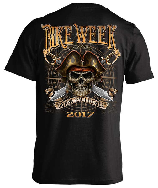 2017 Daytona Beach Bike Week Pirate Skull - 76th Anniversary