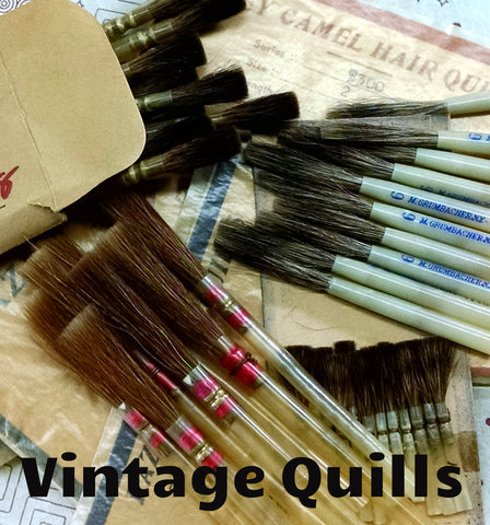 Vintage Quill Brushes