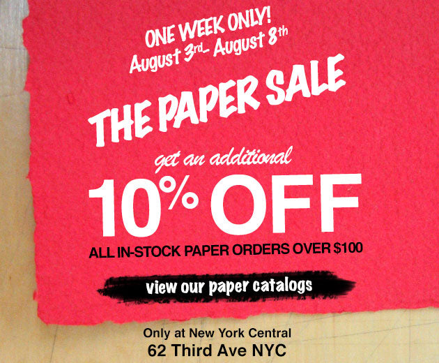 The Paper Sale!