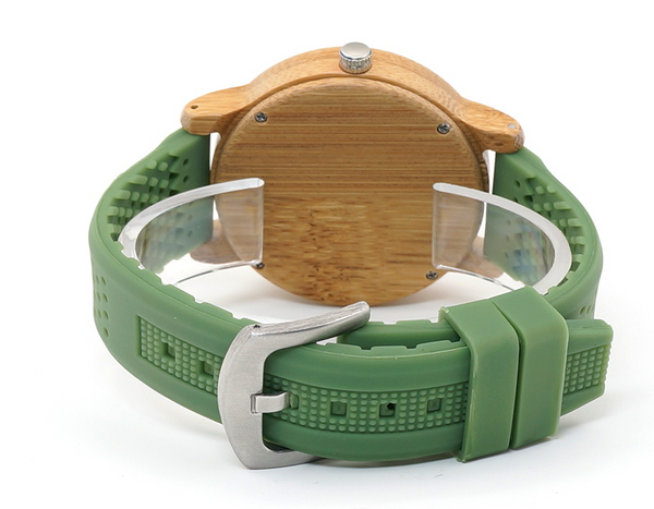 Bamboo Green Hardlex Watch - OnHerTime