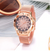 Rose Gold Flower Rhinestone Wrist Watches - OnHerTime