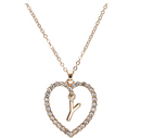 Gold Heart Pendant Necklace - OnHerTime