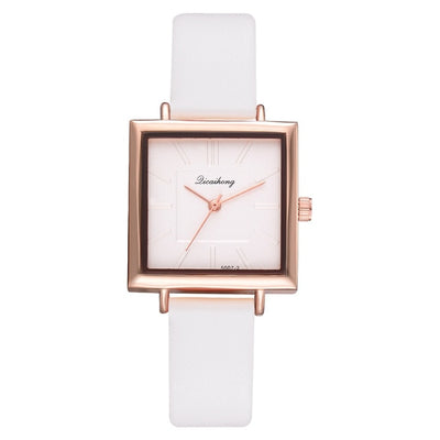 Leather Crystal Wrist Watch - OnHerTime