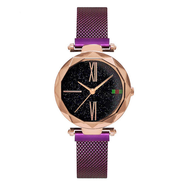 Luxury Rose Gold Magnetic Watch - OnHerTime