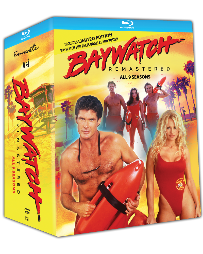 Baywatch Remastered- BLU RAY - All 9 Seasons Includes Pilot and Limited Edition Baywatch Facts Booklet and Poster [Blu Ray] #7181