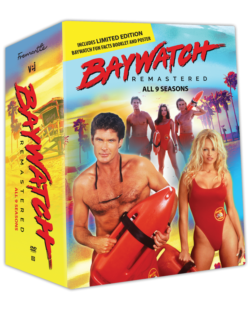 Baywatch Remastered  - All 9 Seasons  Includes Pilot and Limited Edition Baywatch Facts Booklet and Poster [DVD] #7180