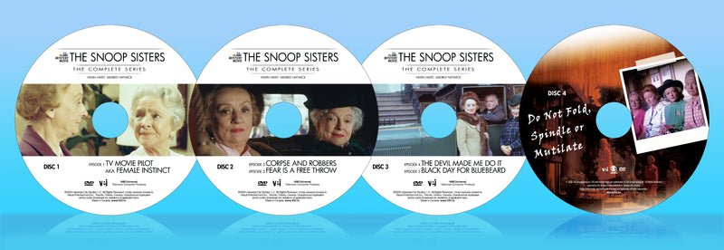 The Snoop Sisters: The Complete Series. Includes Bonus TV Movie:  Do Not Fold, Spindle or Mutilate-4 Disc Set  #7044