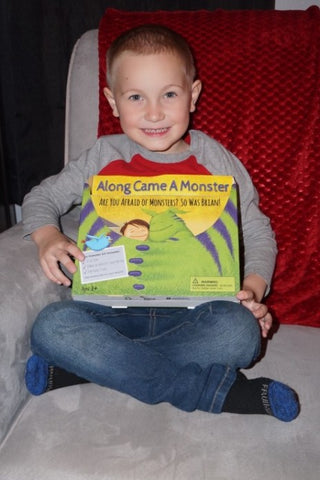 Young man happy to receive his Monster Kit