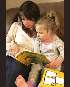 Parent reading a book