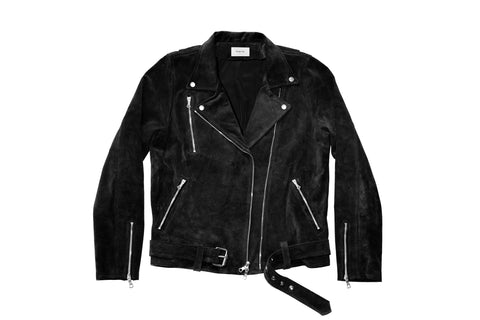 Suede Brando Jacket - Black