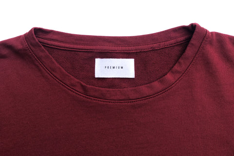 Classic Tee - French Terry - Maroon