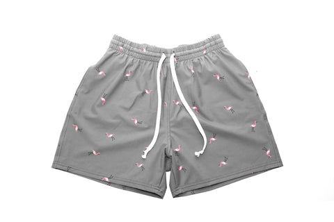 Boardshort - Grey/Flamingo
