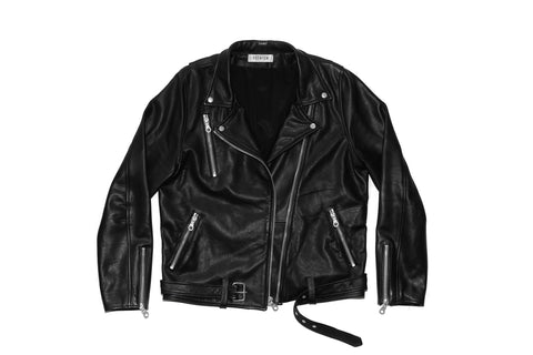 Leather Brando Jacket - Black