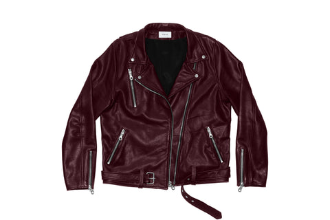 Leather Brando Jacket - Burgundy